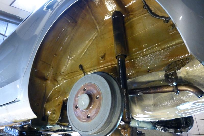 VW UP Fluid Film Undervognsbehandlet